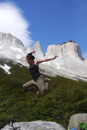 2012 Jumping for joy in Patagonia
