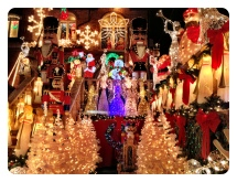 Christmas lights decorations in Dyker Heights, Brooklyn